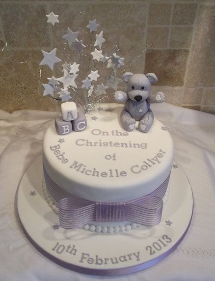 Christening cake - by jayneycakes @ CakesDecor.com - cake decorating website
