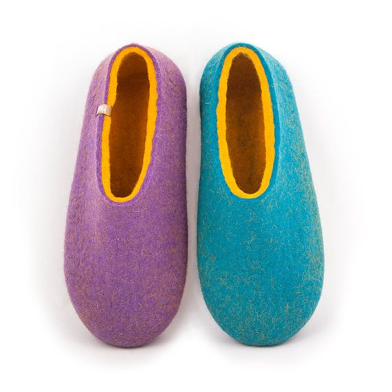 House Shoes for Women Felted Slippers Merino Wool Slippers