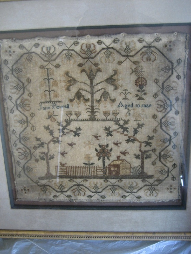 Antique sampler 1837 by Jane Powell aged 10 | eBay