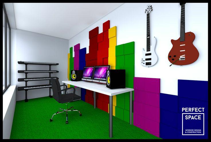 Kolekcja Fluffo PIXEL. Miękkie panele ścienne 3D Fluffo. Fluffo, Fabryka Miękkich Ścian. Projekt by: www.perfectspace.pl