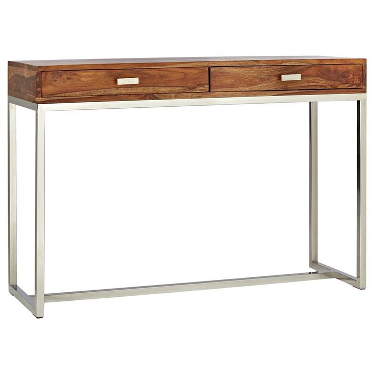 Atelier - Scandinave - Console en bois avec pieds en acier inoxydable/CONSOLE/TABLES/ATELIER BOUCLAIR|Bouclair.com