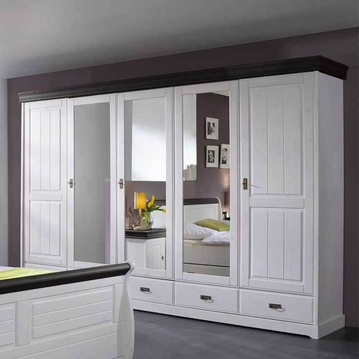 Schlafzimmerschrank In Weiß Kiefer Massivholz Jetzt Bestellen Unter: ...