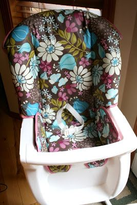 A step by step tutorial on how to recover an old high chair cover.