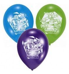 6 Ballons imprimés Tortues Ninja