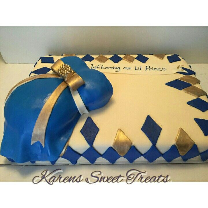 Royal Prince Themed Baby Shower Cake