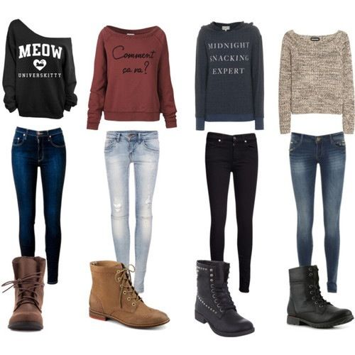 Cold weather outfits, probably like to wear these types of thing for winter...