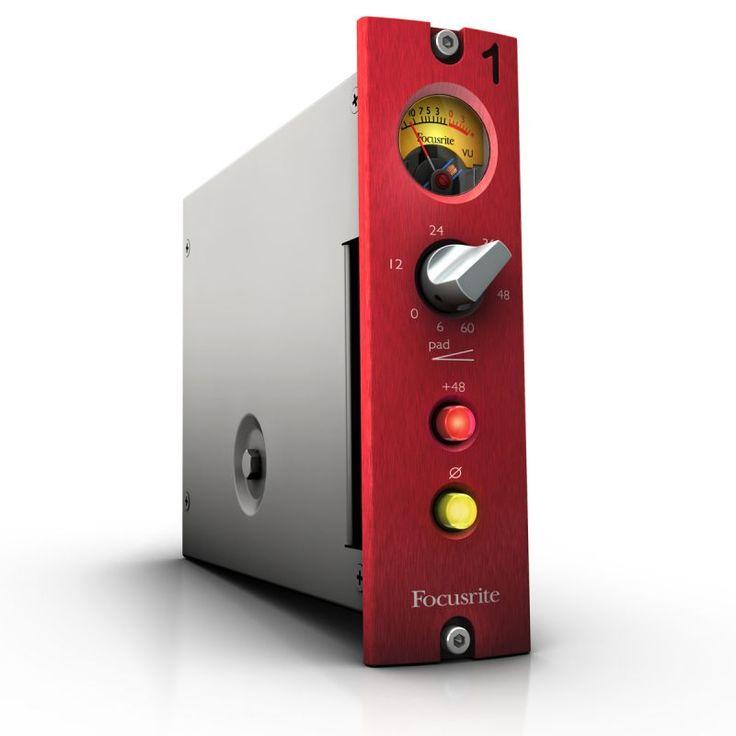 """RED 1 500 MIC PRE FOCUSRITE Focusrite nos trae de vuelta el """"sonido característico"""" de este clásico de los años noventa que fue el gran sueño de muchos estudios"""