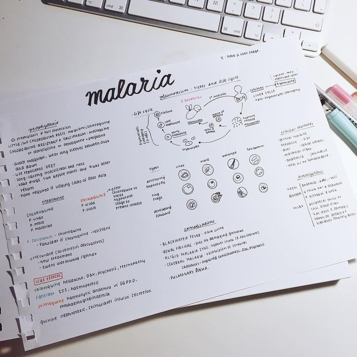 One method I use to condense and revise notes: make an A4 poster with what I need to know. This example is of malaria - I try and include the things I don't remember as opposed to the stuff I do. uji