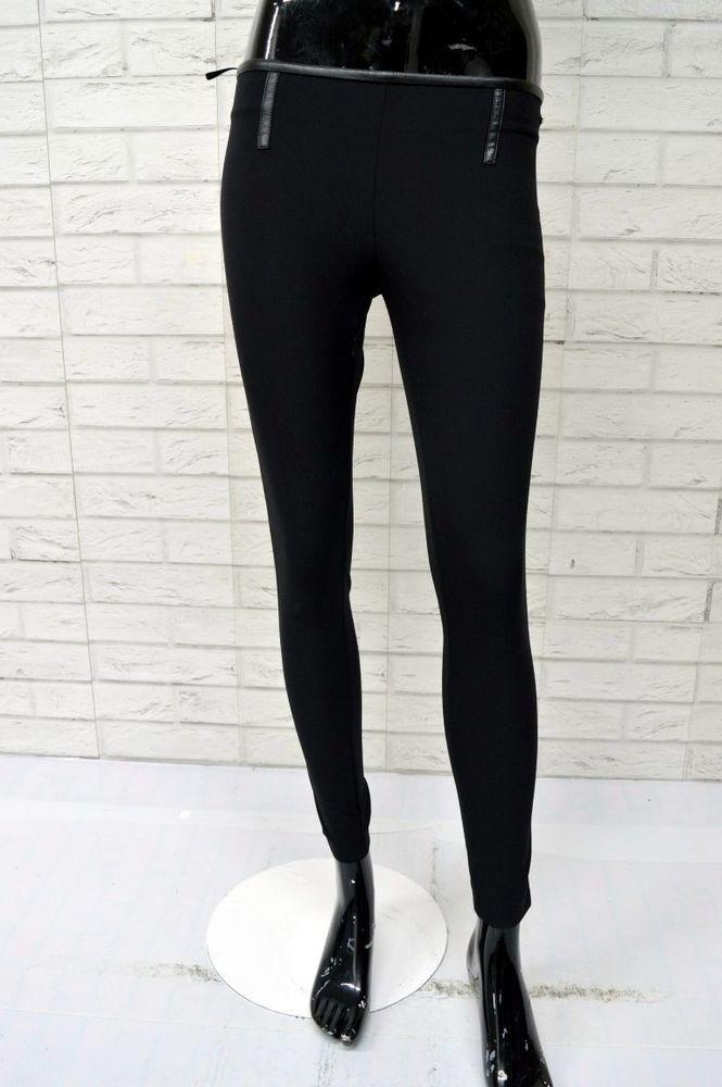 e5fe48b61e Pantalone Nero Donna ELISABETTA FRANCHI Taglia 40 Woman Black ...