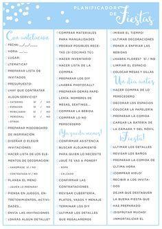 imprimible: planificador de fiestas   milowcostblog