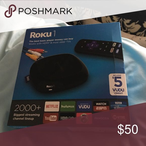 NETFLIX PLAYER (ROKU) Streaming player, Netflix, You tube, showtime, HBO, PBS, and many more. This allows you to hook up to any device and watch Netflix or stream the web. I'm going to college so won't need it. This is a great deal. Usually priced at 65 dollars. Accessories