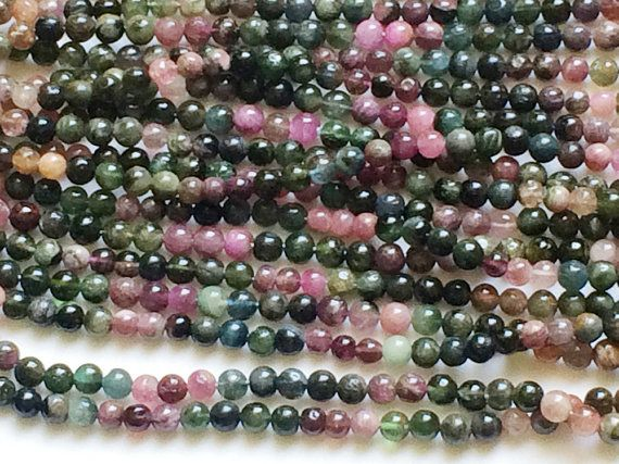 Multi Tourmaline Beads Multi Tourmaline Plain by gemsforjewels