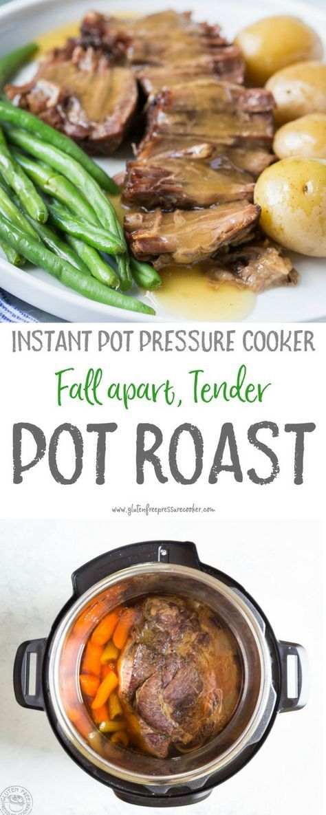 Now you can cook a pressure cooker pot roast in in less than an hour! This easy recipe makes a healthy weeknight meal that cooks quickly in your instant pot or electric pressure cooker! It's gluten free, paleo and whole 30, and low carb