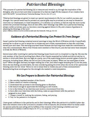 Patriarchal Blessings Handout