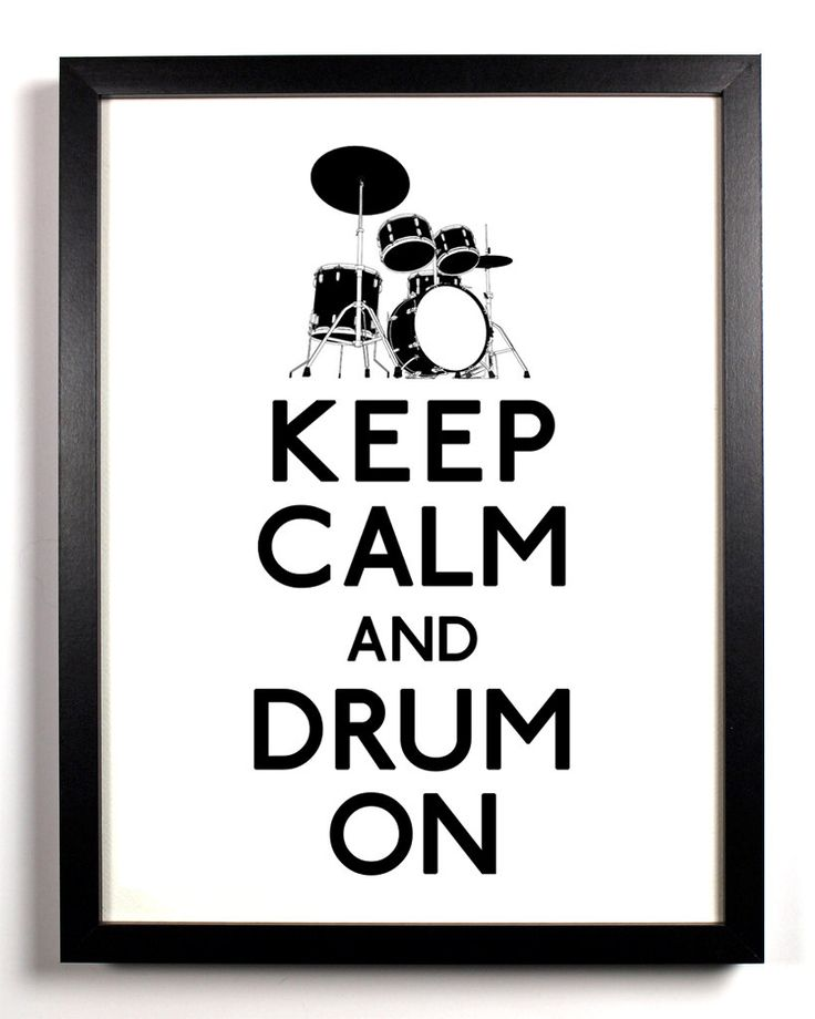 Keep Calm and Drum On (Drum Set) 11 x 17 Print Buy 2 Get 1 FREE. $11.99, via Etsy.