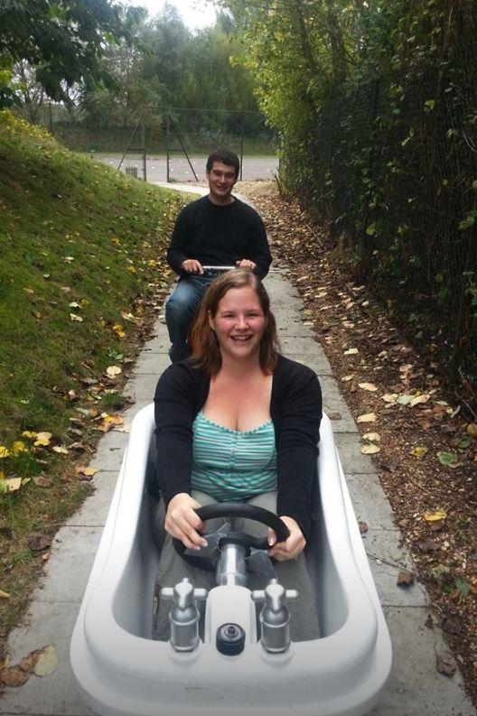Cardboard Boat Challenge Bathtub Kart Racing Banana Ride In Reading Is A Great Activity Hen Night Ideas By DesignaVenture