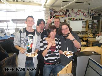 Free pancakes at the library- getting boys to read