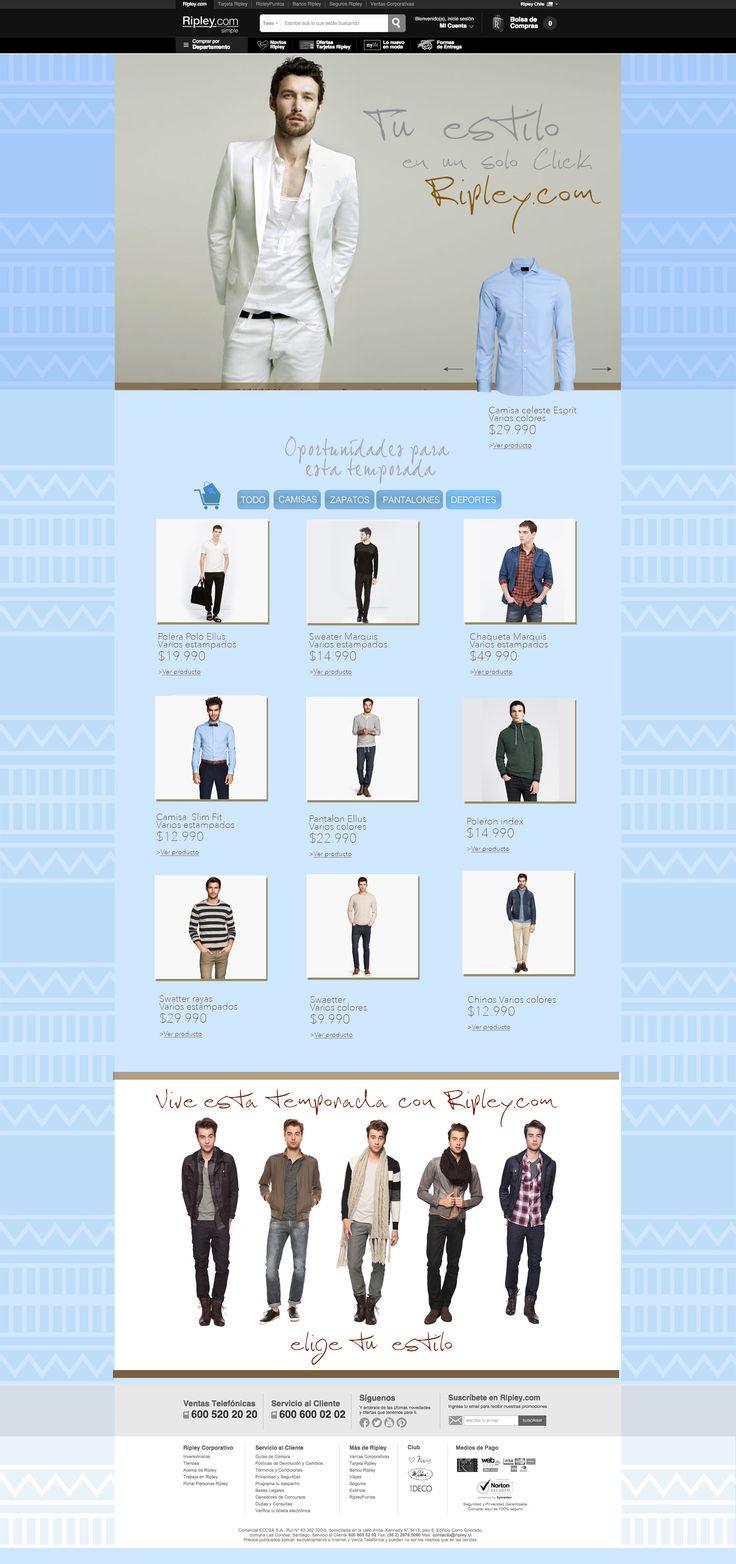 Moda Hombre - Web Retail
