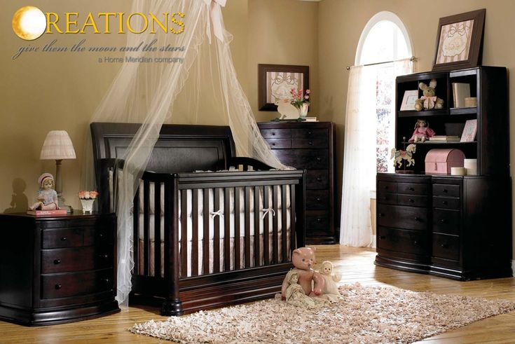 """With getting black furniture, I think the """"net"""" would really soften the room - if it's a girl"""