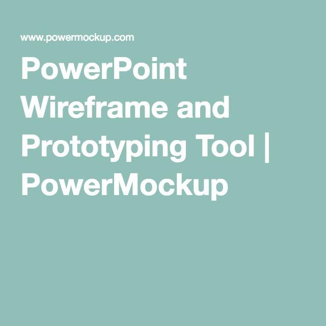PowerPoint Wireframe and Prototyping Tool | PowerMockup