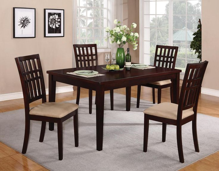Dining 103340 Casual Table With Square Tapered Legs By Coaster