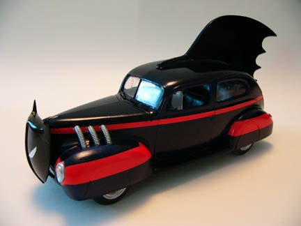 Early Batmobile Die-cast Toy