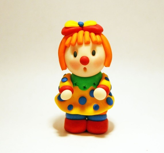 Ginger the clown #polymerclay