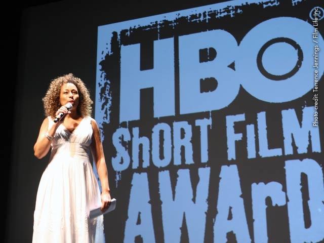 Tamara Tunie hosts the #HBO #ShortFilm Competition in #Miami.