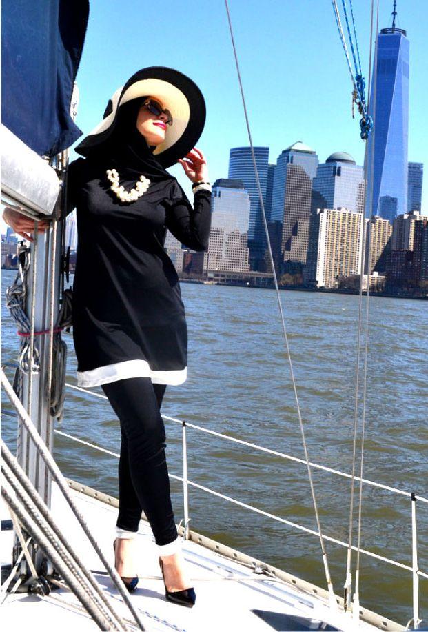 The Hepburn Burkini | Beaute Cache. Burkini + the scarf!! Perfect!
