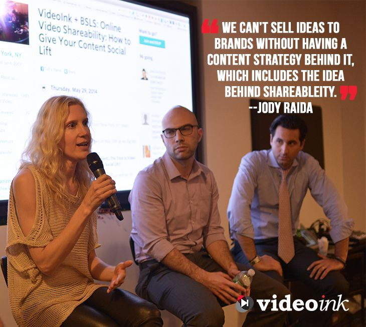 Check out Jody Raida's insight on Video Shareability, http://www.thevideoink.com/events/recap-videoink-presents-trick-video-shareability/#.U5dp9C-aQUs #ViChats #digitalmedia #quotes