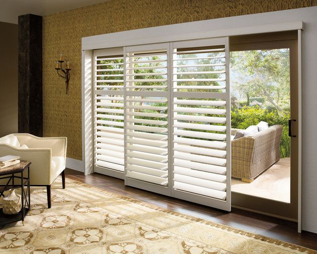 Ideas For Window Treatments For Sliding Patio Doors sliding glass door window treatment ideas Find This Pin And More On Ideas White Plantation Shutters Sliding Glass Door Vertical Blinds