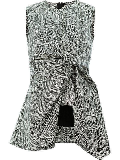 Marni блузка с баской и принтом 'Limestone'