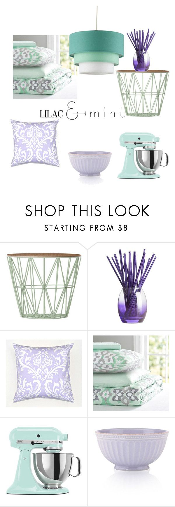 """Lilac and mint"" by fashionbuggirl ❤ liked on Polyvore featuring interior, interiors, interior design, home, home decor, interior decorating, ferm LIVING, Joy Mangano, PBteen and KitchenAid"