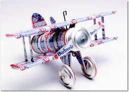 How to Build a Model Airplane out of Beer Cans  Here is the actual pattern for the airplane