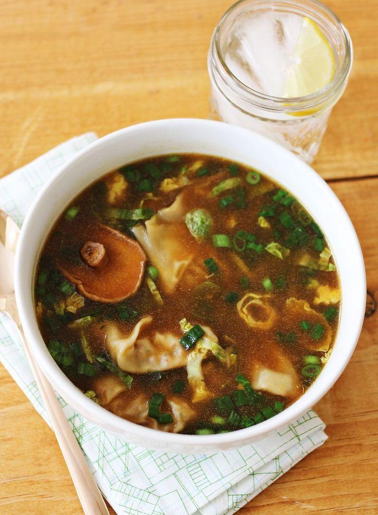 Asian style dumpling soup