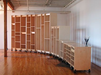 Art Storage // can be rolled to form a curve or any formation