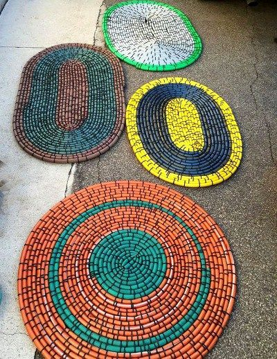 DIY Outdoor non-slip Hose Rug