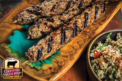 Lebanese-style Spicy Beef Kofta Kabobs: Taste the difference. There's Angus. Then there's the Certified Angus Beef ® brand.