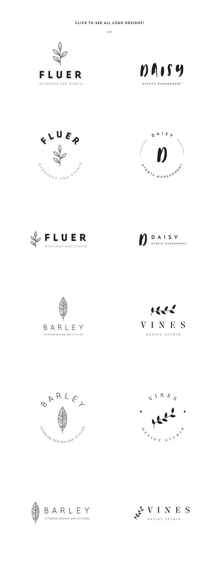Elegant Logo Templates by GraphicSupplyCo. on @creativemarket