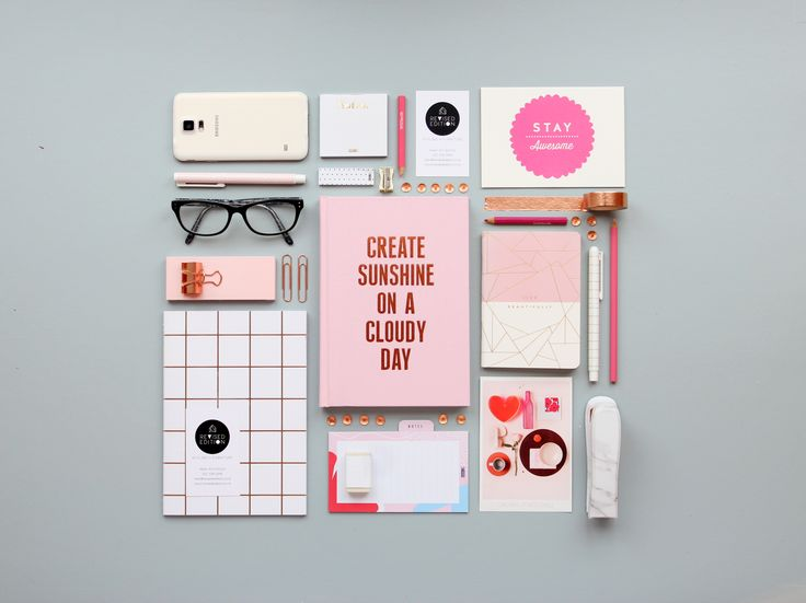 Pretty in Pink - Flat lay for Revised Edition