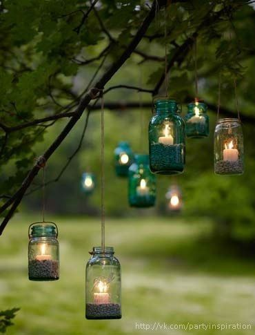 Hanging candle jars