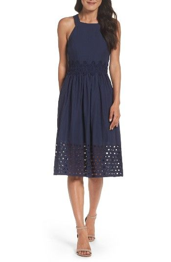 Free shipping and returns on Vince Camuto Fit & Flare Midi Dress at Nordstrom.com. Your go-to summer dress—whether it's the office, weeknight excursions or weekend parties, this cotton fit-and-flare is great for any occasion.