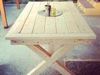 Step by Step Plans to build a Pottery Barn Inspired Toscana Table!