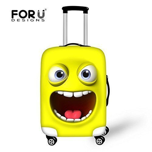 Travel Luggage Cover Soft Cute Emoji Smile Face Design 26-30 Inch High Quality #luggagecover