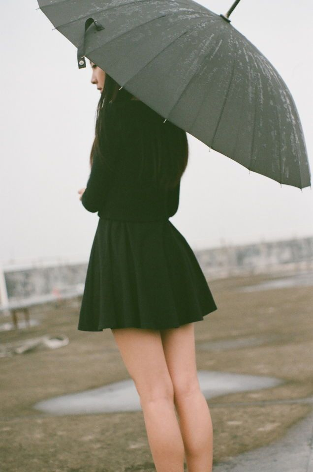 Girl and umbrella.