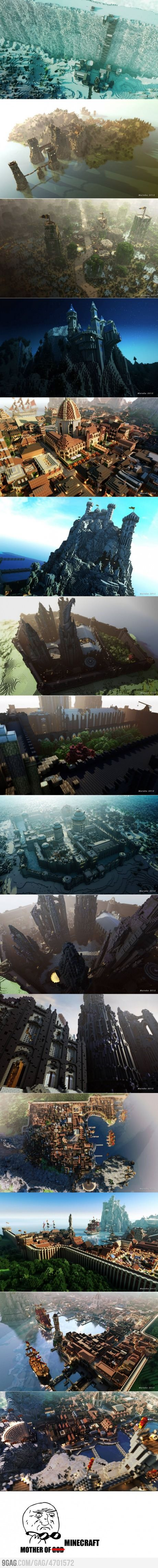 Game of Thrones in Minecraft... Not so much the Game of Thrones thing as much as the amount of effort and creativity this would have taken to do in Minecraft. Crazy!