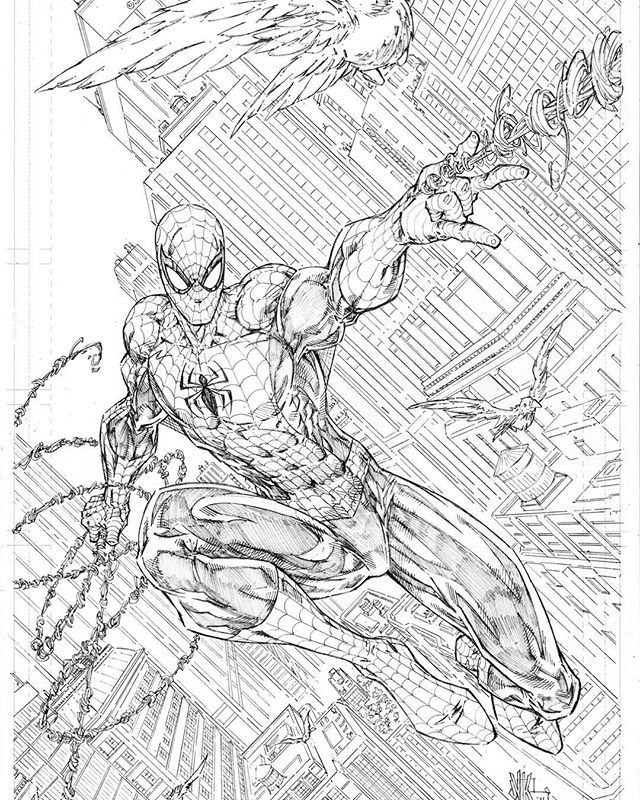 Commission from NYCC 2016 - The Amazing Spider-man by V Ken Marion 11x17 pencil on bristol #spiderman #marvel #marvelcomics #spidey #peterparker #vkenmarion #vkenmarionart #thwip