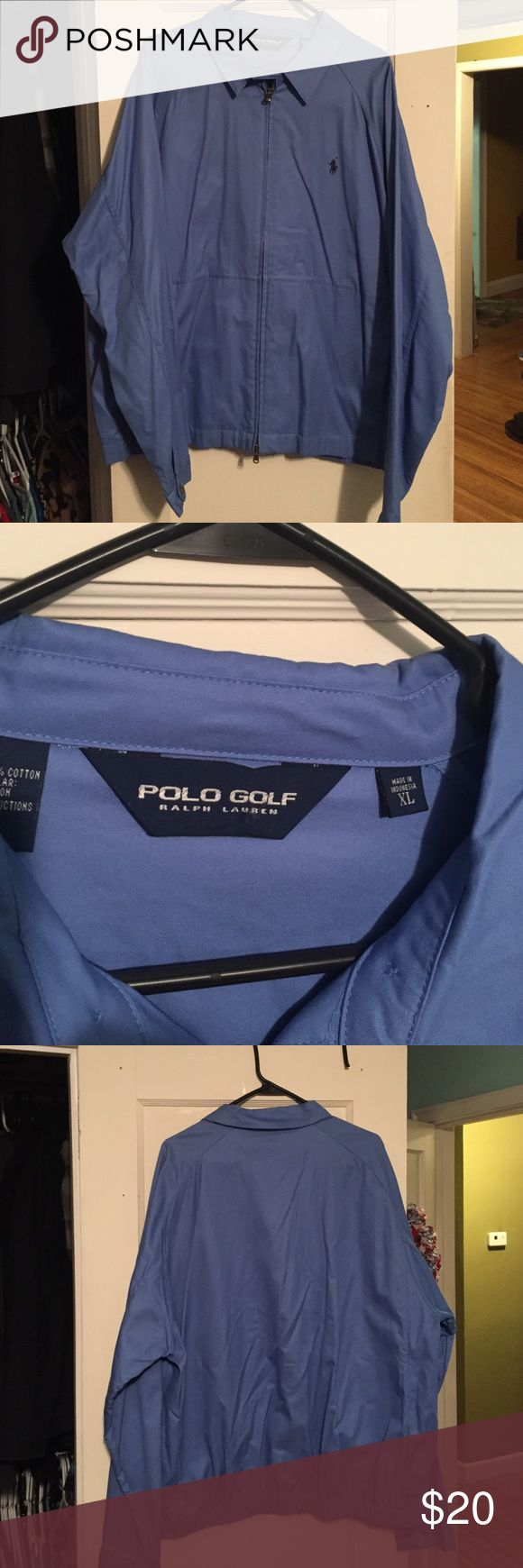 Men's Ralph Lauren polo golf jacket size XL Men's Ralph Lauren polo golf jacket size XL. Worn once. Polo by Ralph Lauren Jackets & Coats Lightweight & Shirt Jackets