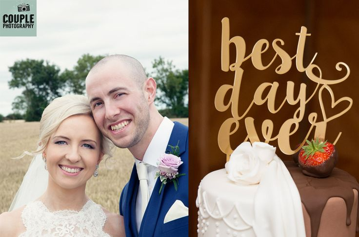 Best day ever Cake Topper. Wedding Photography at Mount Wolseley by Couple Photography.