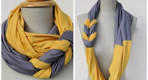I've seen some cute homemade scarves I'll have up try to make one of these cute ones